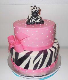 baby+showers+for+girls | Zebra Baby Shower Cakes for Girls