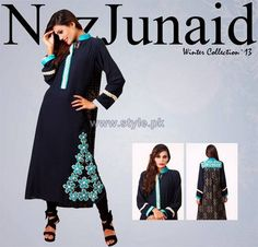 NazJunaid Winter Dresses 2014 For Women Pictures