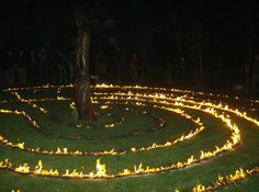 Welsh Farm Life; Penyrallt Home Farm: September 2010  Really nice shot of a fire labyrinth.