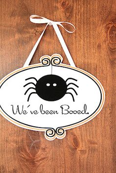 We've Been Booed {Printable} from The Tomkat Studio #halloween #printable