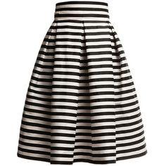 Rumour London - Amalfi Striped Midi Skirt