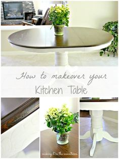 DIY Furniture : How to Makeover your Kitchen Table :: making it in the mountains Kitchen Table Makeover, Diy Kitchen Storage, Furniture Makeover, Diy Furniture, Furniture Projects, Primitive Furniture, Painted Furniture, Diy Projects, Furniture Design