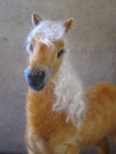Custom horse portrait needle felted  pet memorial gift for you or your horse lover by Noelle Stiles. $195.00, via Etsy.