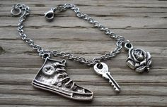 Doctor Who - 10 & Rose Charm Bracelet $20.00 on Etsy at http://www.etsy.com/listing/150943466/doctor-who-10-rose-charm-bracelet