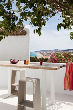 Sipping in the view at Villa Mandarina in Costa del sol, Spain.