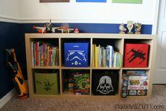 Star Wars Stenciled Storage Boxes for Kohne Boys