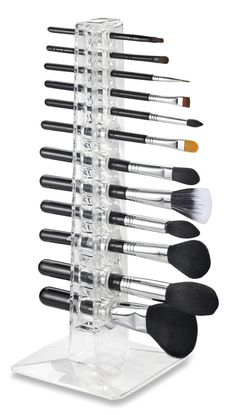 Acrylic Brush Organizer & Beauty Care Holder Containes 12 Space Storage