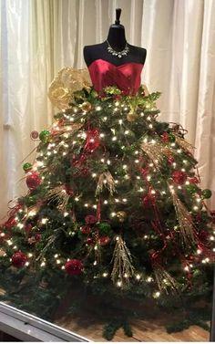 Christmas Mannequin dress