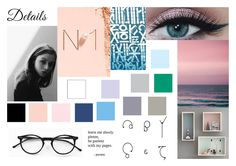 Mood board for one out of three mood boards for Miami Horror assignment.