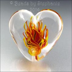 HEART'S ON FIRE  Ready to Ship  Handmade by beadsbystephanie, $36.00