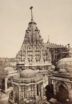 Temple of Adisvara Bhagavana from the South-west [Satrunjaya] 1869 Satrunjaya is an ancient Jain place of pilgrimage where it is believed that Adinatha, the first Jain Tirthankara visited several times and his disciple Pundarika obtained...