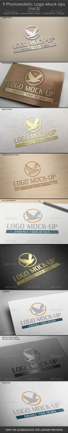 9 Photorealistic Logo MockUps (Vol.2) — Photoshop PSD #copper #hq • Available here → https://graphicriver.net/item/9-photorealistic-logo-mockups-vol2/4870293?ref=pxcr