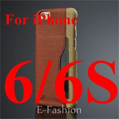 Luxury Brands Skin PU Leather Fiber Case For iPhone 6 6s plus with Card Holder Back Cover Apple 6 Back Case Unique Design
