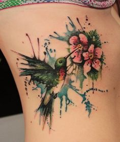 I love the watercolor tattoo look.