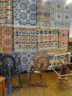 woven coverlets spinning wheels yarn winder