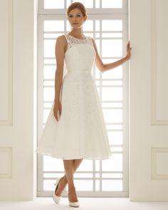 robe de mariée courte en dentelle vintage