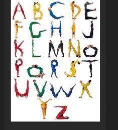 alphabet letters with your body   center's preschool