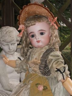 ~~~ Splendid Eyes French Bisque Bebe by Gaultier with Doll-Shop Label from whendreamscometrue on Ruby Lane