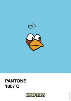 Angry Birds - Pantone 1807 C - Criaçao do ilustrador e designer brasileiro Filipe Marcus