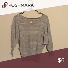Grey dolman top Fits shorter and has 3/4 sleeves Mudd Tops Sweatshirts & Hoodies