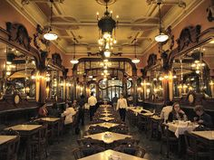 The restaurant, opened in was a fitting setting for J K Rowling to write, considering its fanciful Art Nouveau design and history as a social hub for intellectuals and bohemians. Cafe New York, Portugal, Porto City, Douro Valley, Cafe House, Art Nouveau Design, Cool Cafe, Cafe Design, The Good Place