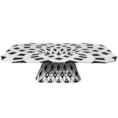 Стол из полиуретана, изготовлен посредством 3D-печати, диз. Й. Лаарман. Объект  представлен на выставке Joris Laarman Lab: Bits and Crafts, Friedman Benda Gallery. 5