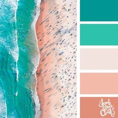 Teal beachy colors // Summer Color Palettes // Click for more color schemes, mood boards and color combinations inspired by Summer at https://sarahrenaeclark.com #color #colorscheme #colorpalette