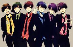 自分絵でスーツを着てる六つ子ちゃん 完全に自分絵なので…すみません!!もしあれだったら消します… トッティが頭から離れません ランキングありがとうございました!