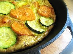 Sweet Potato, Zucchini and Leek Frittata