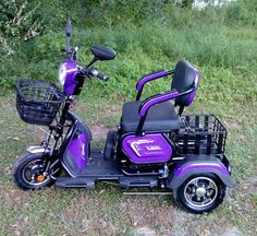 """When you want MORE than the average """"granny"""" style mobility scooter Mythological Creatures, Purple Rain, Outdoor Power Equipment, Mobility Scooters, Diy Projects, Mopeds, Luxury, Reign, Fairies"""