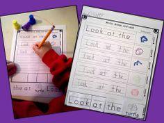 Stamp Sentence: Literacy Center for Pre-K and Kindergarten $ #sightwords
