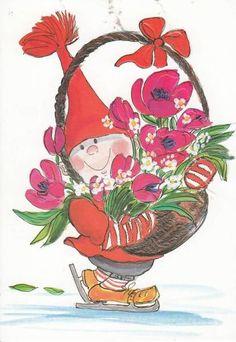 Virpi Pekkala Christmas Clipart, Christmas Cards, Xmas, Button Nose, Sarah Kay, Whimsical Art, Cute Illustration, Gnomes, Cute Kids