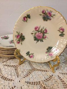 Vintage Dessert Plates  June Rose by Syracuse by PineStreetPickers