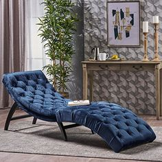 This indoor chaise lounge is the ideal choice for buyers looking to create a one-person relaxation nook in their home. Featuring an elegant tufted body, this chair is curved to provide the most comfortable shape for the human body. Made from the highest-quality materials, this is a purchase that... more details available at https://furniture.bestselleroutlets.com/living-room-furniture/chaise-lounges/product-review-for-garamond-cobalt-velvet-chaise-lounge/