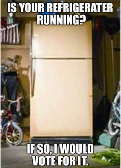 is your refrigerator running.. if so, I would vote for it.