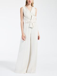 Max Mara EVEREST ivory: Cady and duchesse jumpsuit.