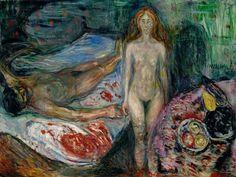 Edvard Munch - Der Tod des Marat, 1907