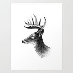 deer Art Print by Hamsterphant - $15.00