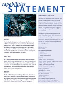 Capability Statement Design   Bing Images