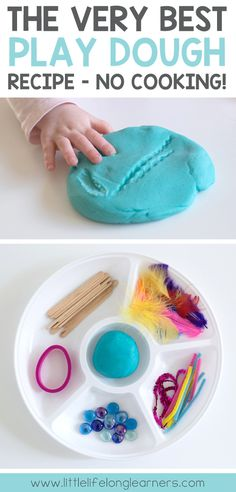 The best no-cook play dough recipe | Perfect activity for babies, toddlers, preschoolers | Teaching ideas for the Prep, Foundation and Kindergarten Classroom | Sensory play ideas |