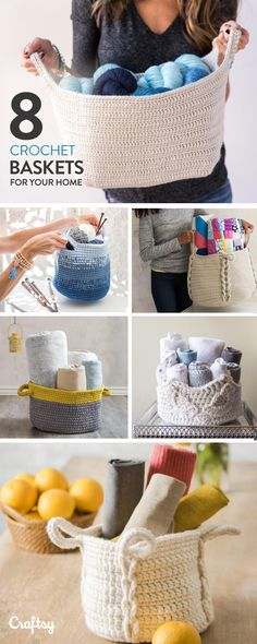 Explore crochet basket projects, yarns, videos and more! Explore crochet basket projects, yarns, videos and more! Crochet Home Decor, Crochet Crafts, Crochet Yarn, Crochet Hooks, Free Crochet, Crochet Basket Pattern, Crochet Patterns, Crochet Baskets, Yarn Projects