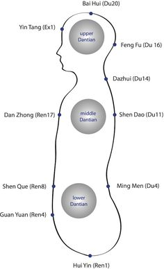 Glossary: Dantian (Chinese: 丹田, pinyin: dāntián, Wade-Giles: tan-t'ien) is a centre of Qi (life energy). The Dantian are points of reference in Qigong. Reiki Meditation, Kundalini Yoga, Yin Yoga, Meditation Music, Qigong, Tai Chi, Moorish Science, I Ching, Acupuncture Points