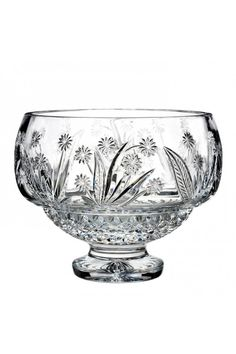 House of Waterford Crystal Flora & Fauna Buttercup Footed Bowl, Limited Edition of 250 at Waterford Wedgwood Royal Doulton, Tanger Outlets, San Marcos, TX or call or We ship. Crystal Glassware, Waterford Crystal, Cut Glass, Glass Art, Crystal Uses, Flint Glass, Glass Company, Vases Decor, Centerpieces