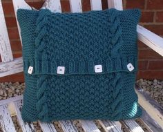 KNITTING PATTERN - EASY KNIT CHUNKY CUSHION COVER - CABLE INSTRUCTIONS INCLUDED.