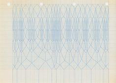 tina jonsbu: 7 x graph paper with coloured pencil, 2009