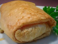 Greek Phyllo Chicken Bundles - Kotopita by Comfy Cuisine Dove Recipes, Greek Recipes, Chicken Bundles, Greek Chicken, Creamy Chicken, Coconut Chicken, Phyllo Dough Recipes, Food Network Recipes, Cooking Recipes