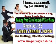 My Advertising Pays really is the best new way to advertise your business online and make money at the same time. We offer quick pay-outs and professional marketing tools to help you promote My Advertising Pays to your network and get paid even more! Get Started Here www.mapcrazycash.ca
