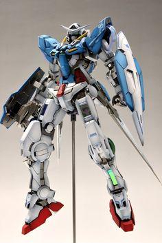 MG 1/100 GN-001 Gundam Exia    Modeled by Suny Buny #Gunpla Gundam Exia, Gundam 00, Gundam Wing, Gundam Toys, Armored Core, Gundam Custom Build, Frame Arms, Japanese Toys, Gunpla Custom