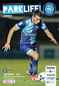 9 November 2016 v Wycombe Wanderers FL Trophy Won 4-2