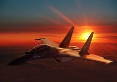 Fotka: Sukhoi Fighter at Sunset x A cropped version is available in the Image Variants section of the Military Jets album, or in my Military Jets collection. Sukhoi Su 30, Military Jets, Military Aircraft, Fighter Aircraft, Fighter Jets, Boeing Aircraft, Photo Avion, Aviation Decor, Russian Air Force
